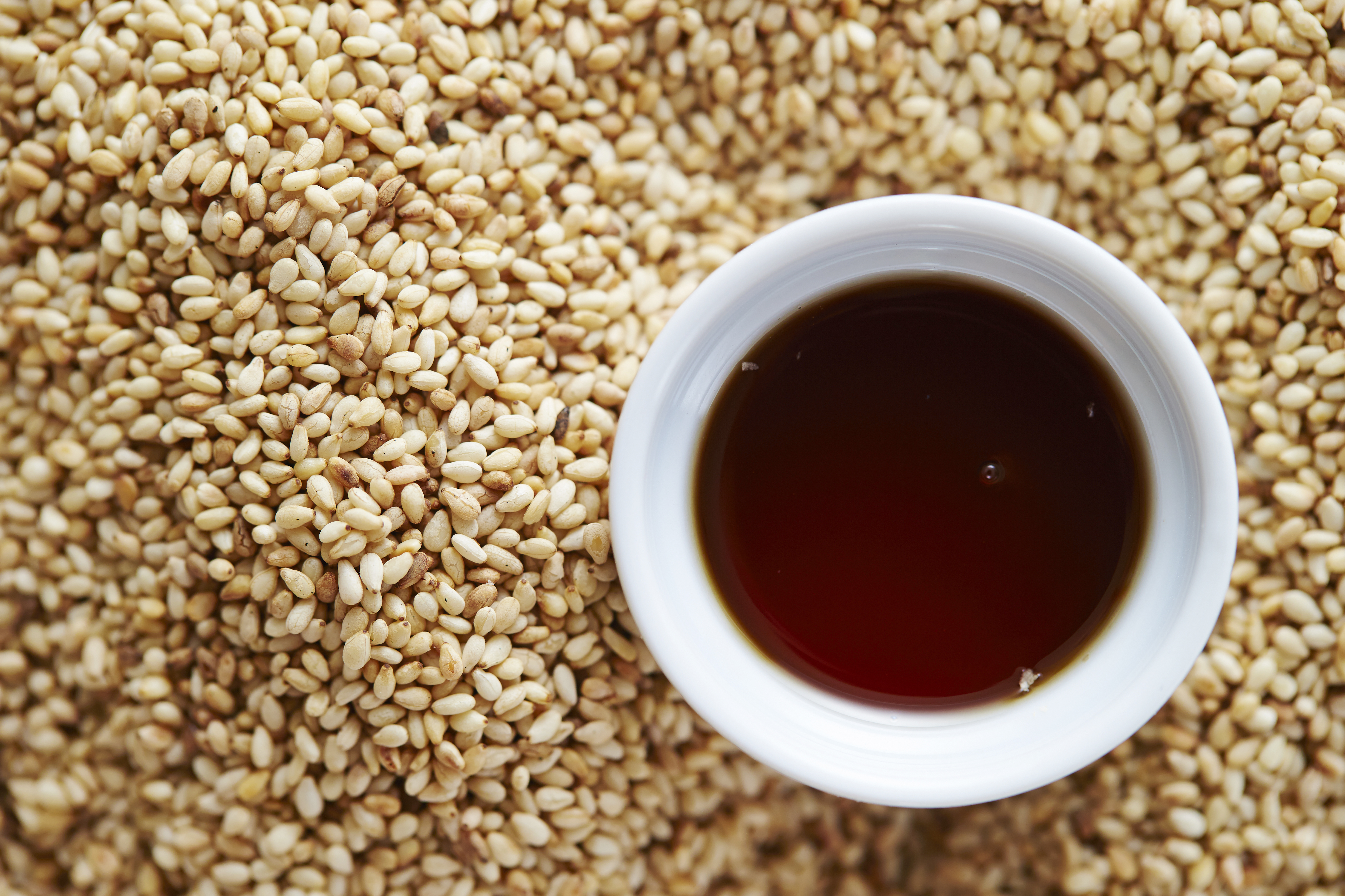 Sesame with sesame oil
